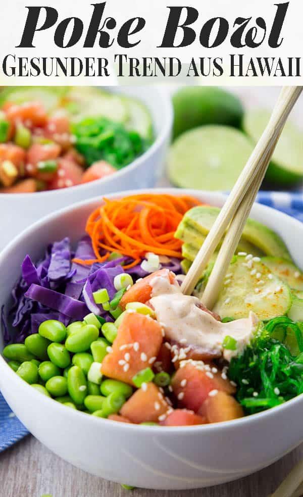 Habt ihr schon mal von Poke Bowls gehört und seid auf der Suche nach einem Rezept für dieses Hawaiianische Trendgericht? Dann probiert unbedingt meinen Poke Bowl mit erfrischender Wassermelone und Sriracha Mayonnaise. Natürlich super lecker, frisch, gesund und 100% vegan! #pokebowl #vegan #gesund