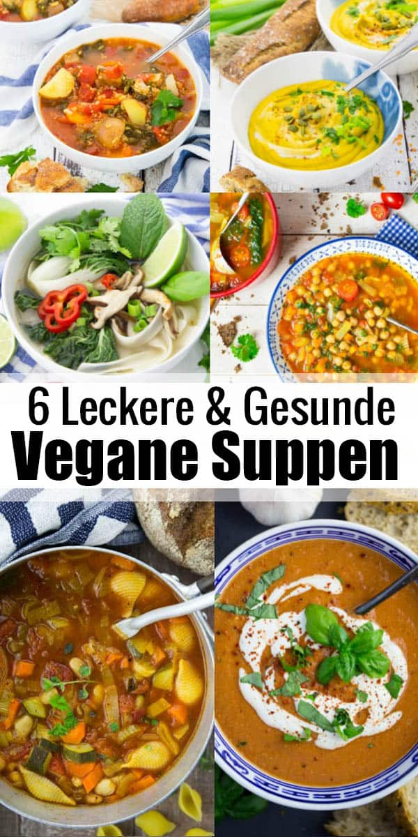 Suppen sind einfach perfekt für kühle Herbst- und Wintertage. Und natürlich schmecken auch vegane Suppen ganz fabelhaft! Wärmend, aromatisch und auch noch gesund! Hier findet ihr meine liebsten Suppen Rezepte! #vegan #Suppe #gesund